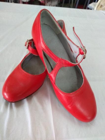 Zapatos Español De Cuero Negro