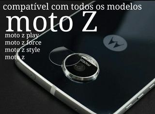 1 Película Traseira Lente Vidro Câmera Moto Z Moto Z Play