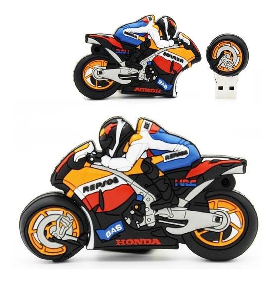 Pen Drive 32gb Moto Esportiva Motoqueiro Piloto Corrida Usb