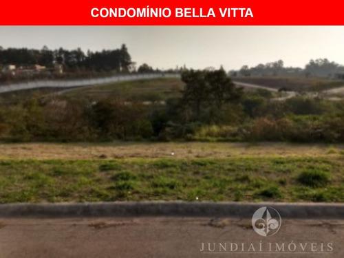 Vendo Ótimo Terreno No Cond. Bella Vitta, Bairro Corrupira Em Jundiaí, Com 377 M², Lazer E Segurança Completos. Excelente Localização. - Te00152 - 68977073
