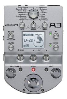 Zoom A3 Pedalera Para Guitarra Acustica