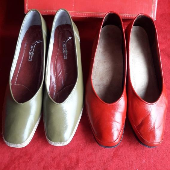 Zapato De Cuero Hecho A Mano Integro Nunca Se Usaron 39.5