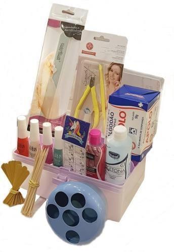 Maleta Kit Manicure Profissional Esmaltes E Acessorios