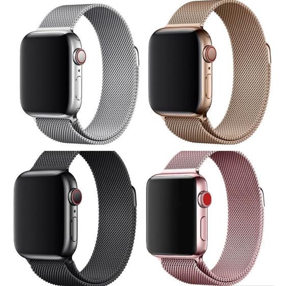 Pulseira Milanese Aço Para Apple Watch 38 40 42 44 Magnetico
