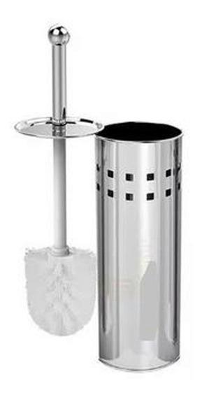 Kit 05 Escovas De Limpar Vaso Sanitário Suporte Aço Inox
