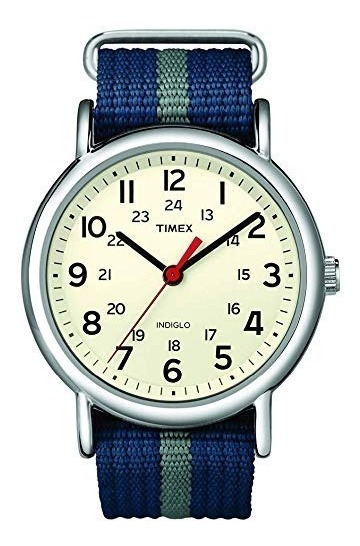 Timex Weekender Azul Gris Blanco Nuevo Entrega Inmediata