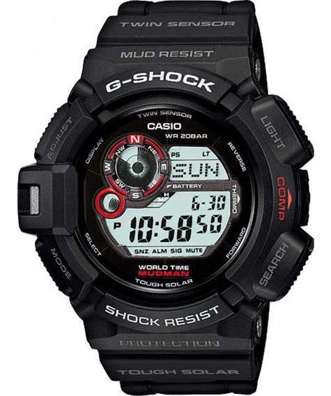 Relógio Casio Solar G-shock Mudman G-9300-1dr +nfe+ Garantia