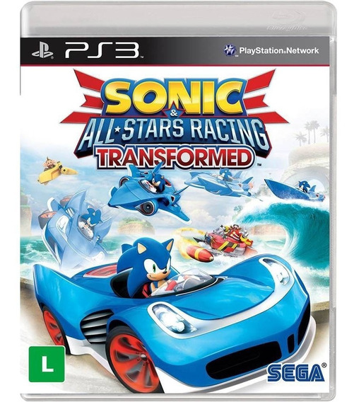 Sonic All Stars Racing Transformed Ps3 M Fisica Novo Lacrado
