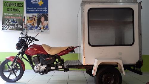 Honda Cg 150 Mix Cargo Triciclo Bau Unico Dono