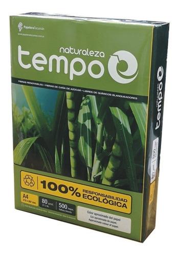 Resma Papel 80g A4 Ecológico Tempo Naturaleza 500 Hojas 100% Hecho Con Recursos Renovables Cuidando El Medio Ambiente