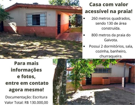 Vendo Bonita Casa Lado Praia Em Itanhaém Litoral Sul De Sp