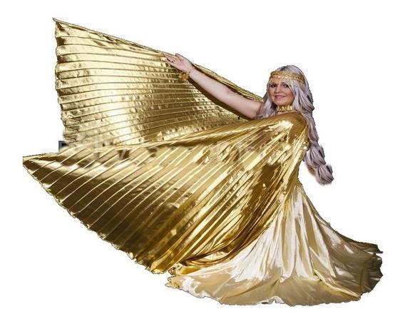 Alas Isis Danza Árabe De Lame.importado De Egipto/dorado