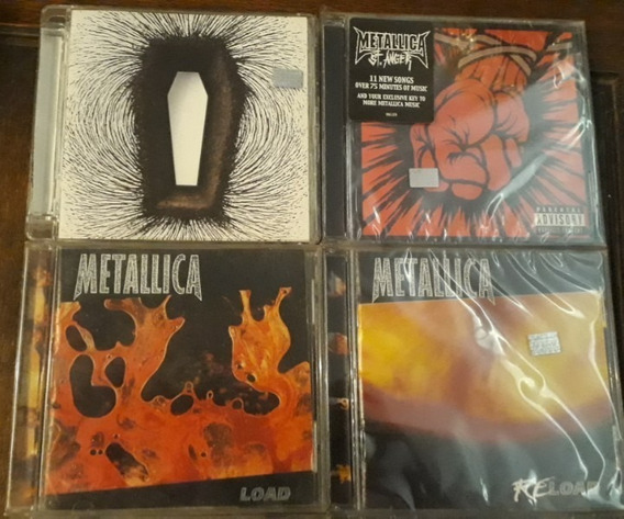 Metallica - Lote Cd X 4 Titulos + 3 Dvd