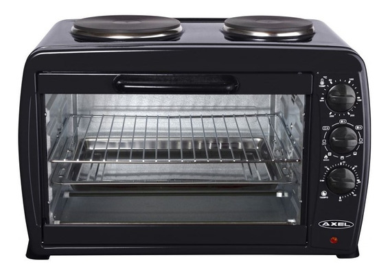 Horno Electrico 45l Doble Anafe Grill Parrilla Axel 1800w