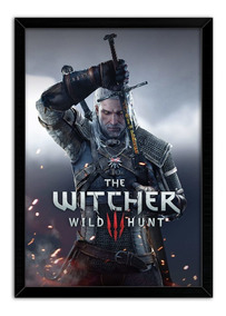 Quadro Decorativo Gamer The Witcher 3 Wild Hunt
