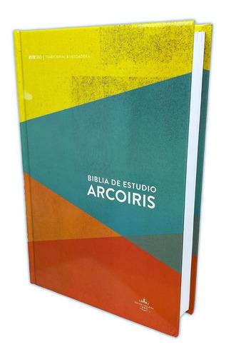 Imagen 1 de 4 de Biblia De Estudio Arcoiris Rv60 Pasta Dura
