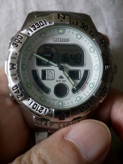 Relógio Citizen Tap Light Promaster Muito Novo Raridade