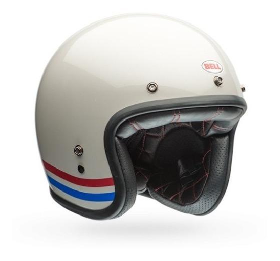 Capacete Bell Custom 500 Stripes Pearl White