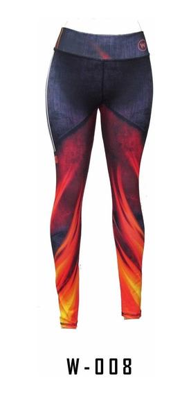 Calzas Leggin Estampadas Mujer Deportivas Lycra Modelo W-008