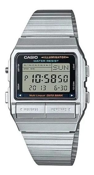 Relógio Casio Vintage Data Bank Digital Db-380-1df +fret +nf