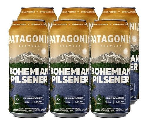 Imagen 1 de 10 de Patagonia Bohemian Pilsener Cerveza 473ml X 6 - Tomate Algo®