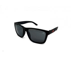 227f57935 Óculos De Sol adidas Preto E Vermelho Proteção 100% Uv Rep.