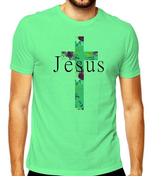 Camiseta Masculina Jesus Cristo Fé Amor A Vida Religião Cruz