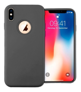 Funda Silicona Premium iPhone X 10 Xr Xs Max + Vidrio Glass