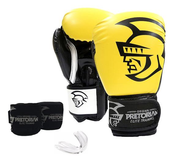 Conjunto De Boxe/muay Thai Pretorian Elite Training 10 Oz