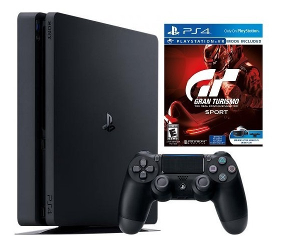 Playstation 4 Ps4 Slim 500gb + Controle + Gran Turismo Sport