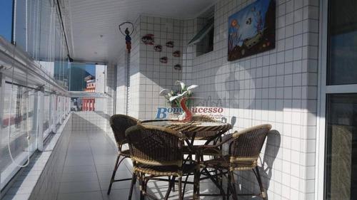 Apartamento Com 2 Dormitórios À Venda, 90 M² Por R$ 450.000,00 - Vila Guilhermina - Praia Grande/sp - Ap1886