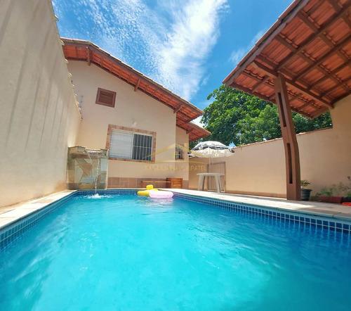 Casa Com 2 Dorms, Jardim Suarão, Itanhaém - R$ 340 Mil, Cod: 1383 - V1383