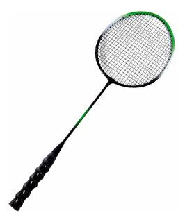 Raquetes De Badminton Verde E Preta + Bolsa Raqueteira