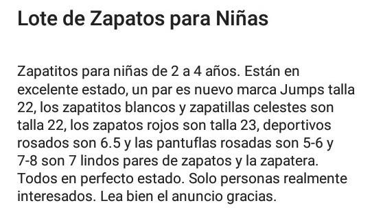 Lote De Zapatitos Para Niñas