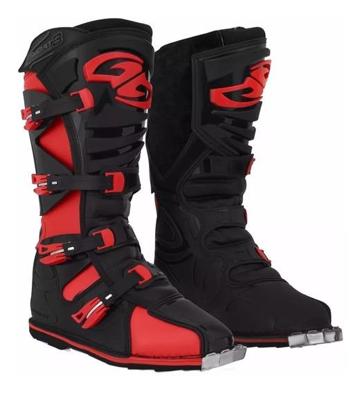 Botas Motocross Enduro Pro Tork Combat 4 Negra Rojo Rpm1240