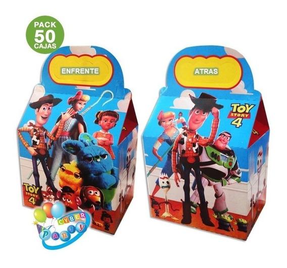 50 Cajas Dulceras Toy Story Fiesta Woody, Buzz Bolo