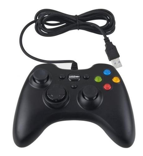 Gamepad Usb Para Pc Control Para Juegos Diseño Xbox 360 Negr