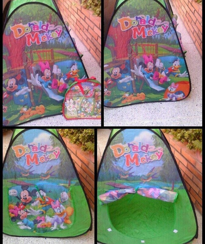 Carpa Casita Niño Mickey, Spiderman, Cars Con Bolso