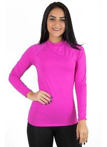 Blusa Camisa Térmica Flanelada Feminina Rosa Ref: 843