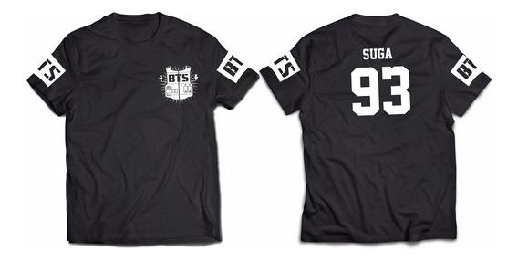 Remera Bts N°17 Suga Yoongi Kpop Envios