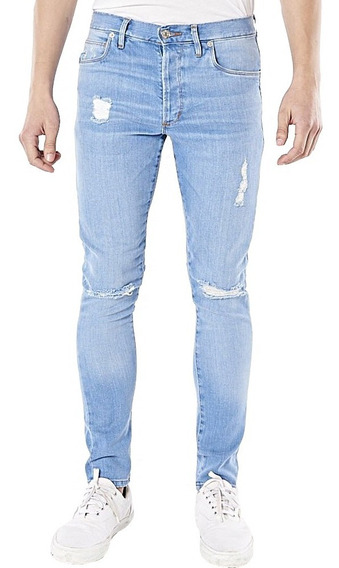 Jeans Hombre Bensimon Ramones Destroyer Gastado Roturas