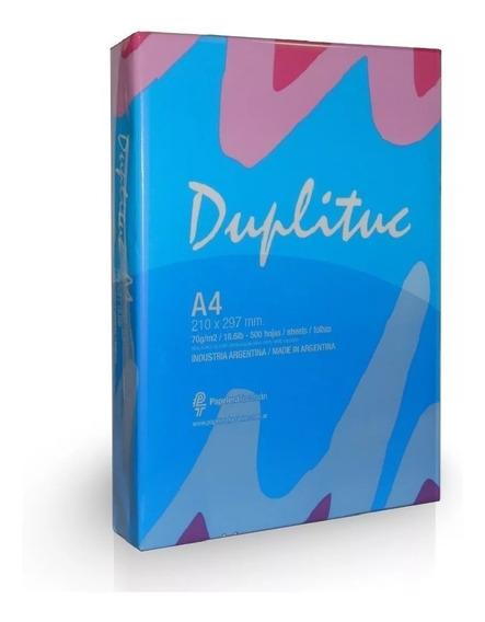 Resma A4 Papel Duplituc 70 Grs 500 Hojas Para Inkjet Y Laser