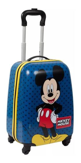 Mala Malinha Escolar Mickey Mouse 19pc Rodinhas 360º Tam G 2019