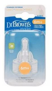 Chupo Dr.browns Nivel 3 Estrecha 6m+ X 2und