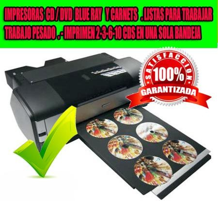 Impresora Epson 3 Cd Dvd X Minuto. 3000 Cds X Dia. Sist Cont