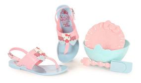 Sandália Hello Kitty Grendene Brinde Kit Cupcake 21375