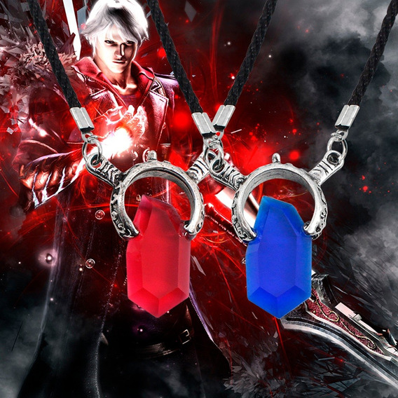 Kit 2 Cordão Colar Devil May Cry 5 Dante Vergil Cosplay Dmc