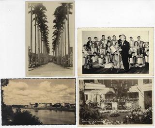 4 Cartões Postais Joinville Décadas 1940 A 1960 Sta Catarina