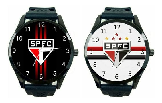 São Paulo Kit 2 Relógios Unissex Promoção Oferta Time T491