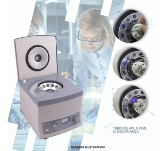 Centrifuga De Bancada Tubos 12x15ml Bioquimica Laboratorio